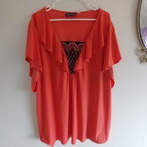 Bob Mackie wearable art blouse 1X